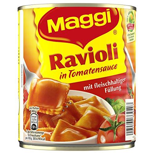 Maggi Ravioli in Tomatensauce, 6er Pack (6 x 800 g Dose)