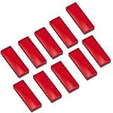 10x Faxland Magnete rechteckig, Rot 54x19 mm, Haftmagnete für Whiteboard, Kühlschrankmagnet, Magnettafel, Magnetwand, Magnet