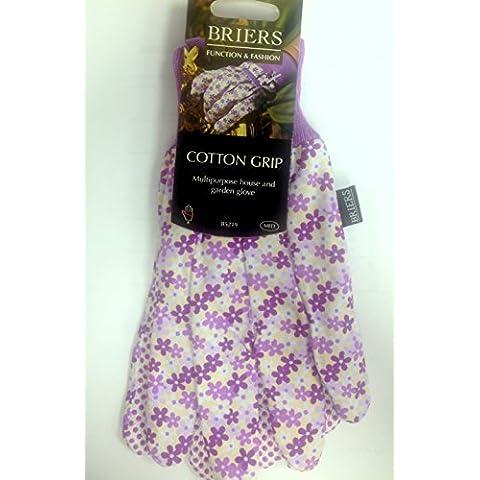 Briers operaia, in cotone, motivo floreale, da donna, Grip-Guanti da