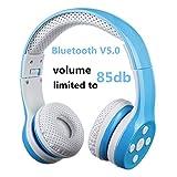 Cuffie Bluetooth wireless per bambini,Hisonic Cuffie bluetooth per bambini Ideale Regalo per Bambini (Blu)