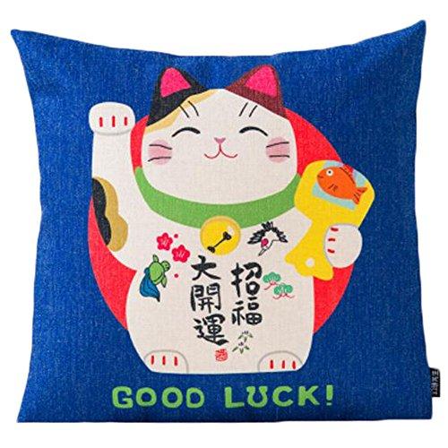 Black Temptation Style Japonais Coussin d'oreiller Confortable pour la Maison/Sushi Restaurant 45x45cm -A31