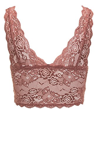 ONLY Damen Bustier Onlchloe Lace Bra Noos Acc Withered Rose