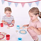 Bigjigs Toys Wooden Pretend Play Dinner Service Set - Plates, Cups, Knives, Forks and Spoons