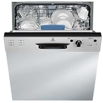 Indesit DPG 66T1 A NX EU Semi intégré 14places A+ lave-vaisselle - Lave-vaisselles (Semi intégré, Noir, Acier inoxydable, boutons, Rotatif, 14 places, 46 dB, A)