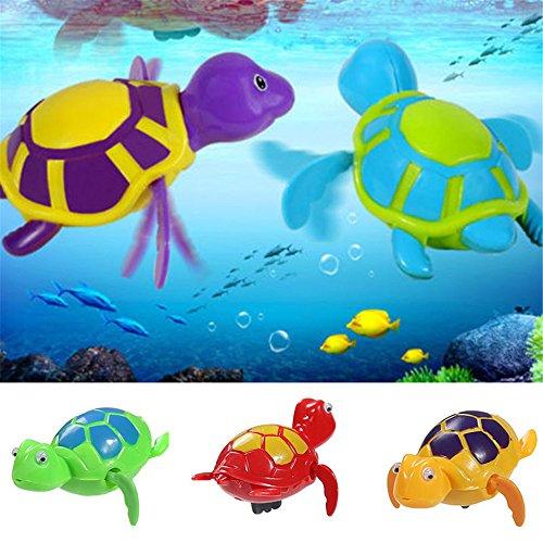 Lustige Spielwaren die Kettenschildkröte Baby Bad Spielwaren Schwimmen Baby Badespielzeug Schildkröte Kunststoff Aufzieh-Nilpferd Badewanne Spielzeug ()