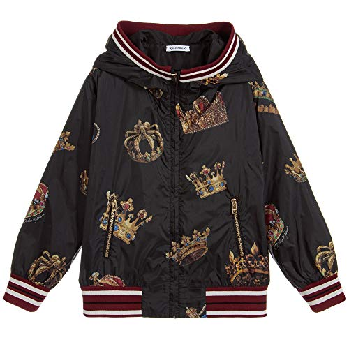 Dolce & Gabbana Kinder All-Über-Krone Jacke Black 8 Years