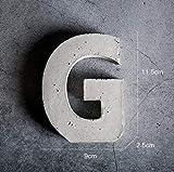 Decorazioni a parete Cemento Alfabeto Inglese (A-Z) Decorazione Murale Semplice Logo Appeso A Parete Tridimensionale Creativo Numero Civico Adesivo (Colore : G.)