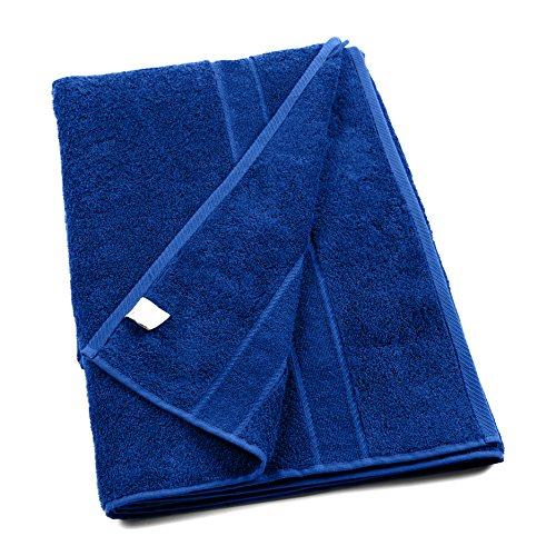 harti PromoLine TIFFANY Saunatuch 100x220cm XXL Übergröße royalblau flauschige schwere Qualität – 500g/m² erhältlich auch als Gästetuch Sporthandtuch Duschtuch Saunatuch Badetuch und Liegentuch / Strandtuch