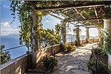 Posterlounge Acrylglasbild 120 x 80 cm: Garten der Villa