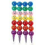 Hothap Lot de 4 surligneurs 7 couleurs haute qualité Swap Nettes sourire visage stylo craie surligneur pour l'école enfant jouet
