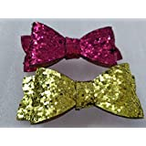 My Party Store DOT COM Cute Stylish Bow Shape Princess Hair Clips For Girls/Kids (Pack Of 2) For Durga Pooja, KANJAK, Navratri, Birthdays And Parties (MULTI2)