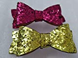 #7: My Party Store DOT COM Cute Stylish Bow Shape Princess Hair Clips for Girls/Kids (Pack of 2) for Durga Pooja, KANJAK, Navratri, Birthdays and Parties (MULTI2)