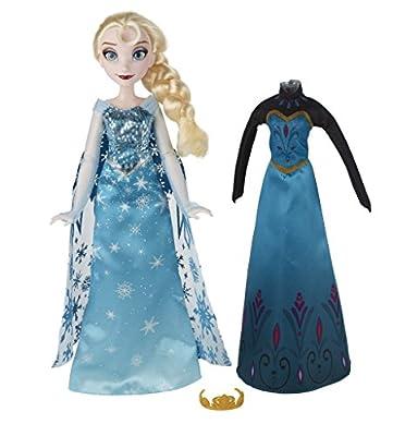 Disney Frozen - Muñeca Elsa Cambio de Vestido (Hasbro B5170ES0) por Hasbro