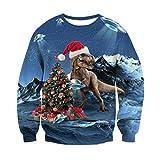 RAISEVERN Unisexe drôle UFO Alien Dragon de Noël Imprimer Vêtements personnalisés Pull Sweat
