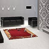 Wellen Muster rot orange Teppich / moderner Teppich / Wohnzimmerteppich / Robust und Strapazierfähig 160 x 230 cm . Dieses Highlight der neuen Kollektion beeindruckt durch einzigartige Farbkombination. Dieses Highlight der neuen Kollektion beeindruckt durch einzigartige Farben als Farbverlauf . Doch seine Besonderheit bekommt dieses Modell durch das ausgefalle Muster, welches in dieser Form nur selten zu finden ist.