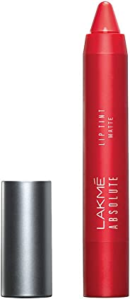 Lakme Absolute Lip Pout Matte Lip Color, Raving Red, 3.7g