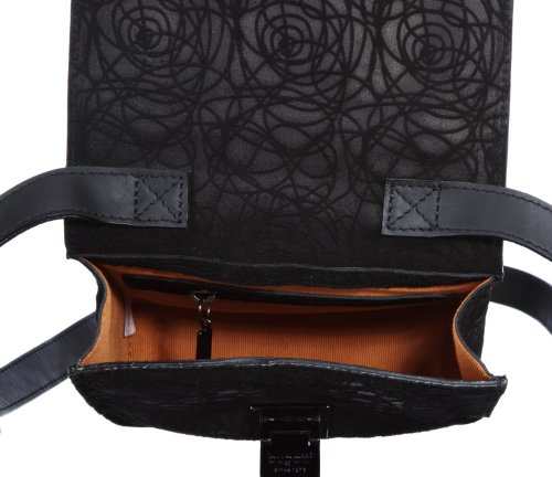 Bugatti Bags Marlene Paris Umhängetasche 496707, Damen Umhängetaschen, Schwarz (schwarz 01), 19x18x4 cm (B x H x T) Schwarz (schwarz 01)