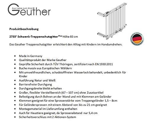 Geuther – Schwenk-Treppenschutzgitter Natur - 8