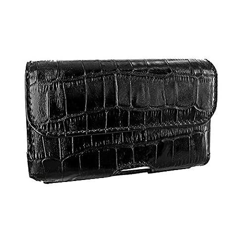 Piel Frama 688CO Etui rigide de protection design Crocodile horizontal pour iPhone 6 Plus Noir