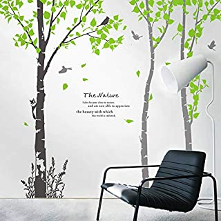 Wall Sticker Wall Stickers - Large White Birch Woods Living Room Tv Background Wall Decoration Stickers Painted Warm Bedroom Bedside Wall Stickers Removable - Wall Stickers in Ariba