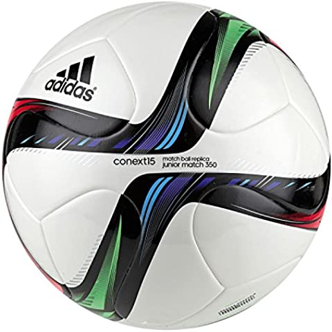 adidas Conext15J350 - Balón de fútbol, color blanco / negro / verde, tamaño 5