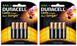 "Duracell AAA size ""Pencil"" batteries are multi purpose alkaline batteries ideal for reliably powering everyday devices. These batteries give you the freedom to enjoy the use of your appliances by giving you a product you can rely on. You can use dura..."