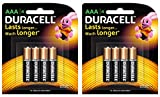 #10: Duracell Alkaline AAA Battery with Duralock Technology - 8 Pieces