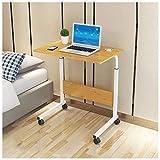 SMC table Klapptisch Anhebbarer mobiler Schreibtisch - Zuhause Kinderarbeitstisch Grundschule Schreibtisch Bett klappbarer Laptop-Schreibtisch (Color : Light Brown)