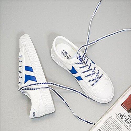 Chaussures décontractées pour femmes printemps et été chaussures de sport en dentelle lacet à la mode Blue