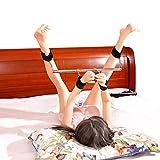Bondage-Fesseln, unter dem Bett Bondage-Rückhaltesystem Pelzhandschellen und Fußfesseln Stütze Satz Handschellen Ankle Cuff Kit Sex Toy