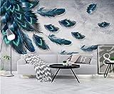 Fototapete Vlies Tapete 3D wallpaper Wanddeko Design Moderne Anpassbare Wandbilder Im Amerikanischen Stil Einfache Modisch Bunte Handgemalten Feder Hintergrundbild Hintergrund Mauer