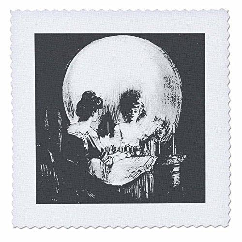 10alle ist Eitelkeit Ghost, Halloween, optische Täuschung, Paranormal, Seasonal, Silhouette, Skelett Quilt Platz, 25von 63,5cm (Benutzerdefinierte Halloween Shirt)