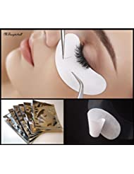 100 pairs Lint Free Under Eye Patch for Semi Permanent Eyelash Extensions- Silver Bags