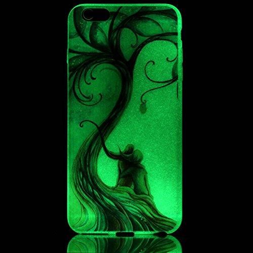 Coque iPhone 6S Plus, Coque iPhone 6 Plus, SpiritSun Etui Coque Noctilucent TPU Slim Bumper pour Apple iPhone 6 6S Plus (5.5 pouces) Souple Housse de Protection Flexible Soft Case Cas Couverture Anti  Amants Peints