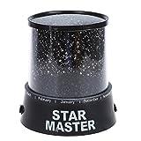 SODIAL (R) Lichteffekte 4 LED Projektor Nachtlicht Sternenhimmel romantisch