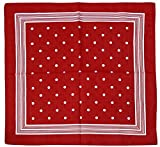 Harrys-Collection Bandana Bindetuch 100% Baumwolle (1 er 6 er oder 12 er Pack), Farbe:Punkte rot