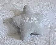 Cojín estrella para bebé personalizado. Un regalo original, decorativo y personalizado. Un bonito detalle para