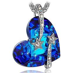 LADY COLOUR - I Love You To The Moon And Back - Collar para mujeres con cristales de Swarovski - Colecciones De Corazón