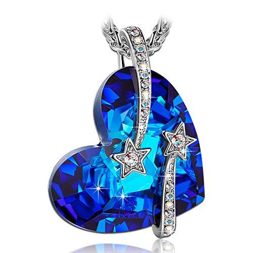Susan y collana donna con cristalli da swarovski blu gioielli regalo donna compleanno festa della mamma regalo san valentino regalo natale regali per lei amica anniversario madre