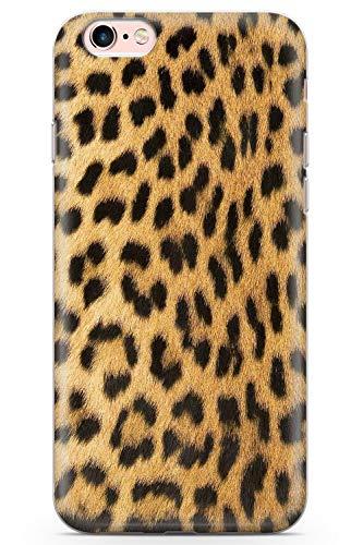 iPhone 6 Plus Diseñador del Leopardo del Oro Impresión De La Moda Funda de Teléfono de Goma Cover Leopardo Animal Leopardo Cazador Linda Envolver