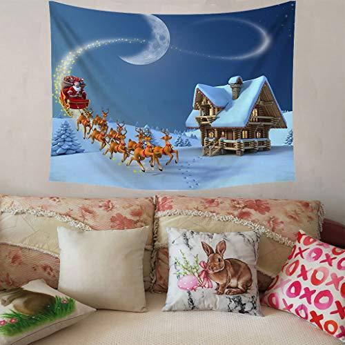 Higlles Weihnachtsdekoration Wandteppich Weihnachtskugel Muster Drucken 150x200 cm Wanddekoration Tapisserie Wandbehang Home Decor(9 Arten)