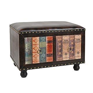 ts-ideen Hocker Stuhl Vintage Buch Look Polsterhocker Antik Kommode Sessel 2 er Sitzbank