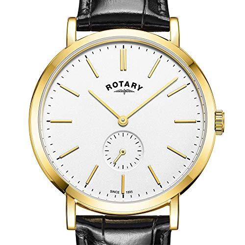 Rotary Orologio da uomo con cinturino in pelle color oro GS05313/02
