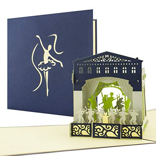 Schöne Verpackung für Konzertkarten, Theater, Musical, Balett, Oper als Geschenk und Gutschein perfekt A02