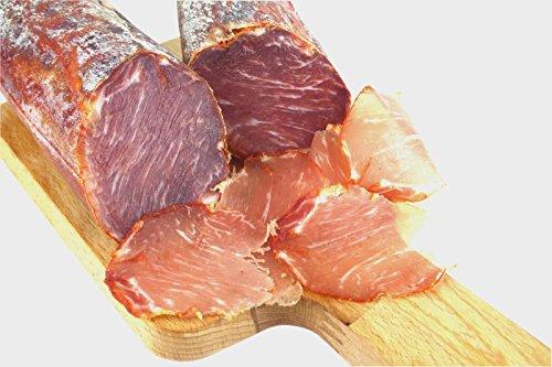 Lomo Iberico - luftgetrocknete Schweinelende vom Pata Negra Schwein mit Paprika, Lachsschinken,...