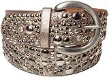 styleBREAKER cintura borchiata in stile vintage, ampia cintura con borchie e strass, cintura glitter, accorciabile, donna 03010020, colore:85cm, colore:Oro antico