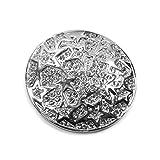Runde Magnet Brosche mit Sterne und Strass Schalhalter Farbe Silber
