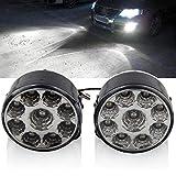 9 LED Auto Tagfahrlicht, 2 Stück 12 V Universal Auto Kopf Runder Nebelscheinwerfer Offroad Lampen Standlicht