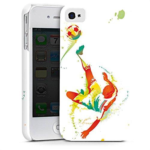Apple iPhone X Silikon Hülle Case Schutzhülle Fußball Sport Torschuß Premium Case glänzend