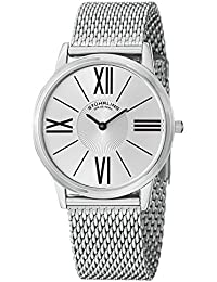 Stuhrling Original Classic Ascot Solei Elite Analog Silver Dial Men's Watch - 533M.33112